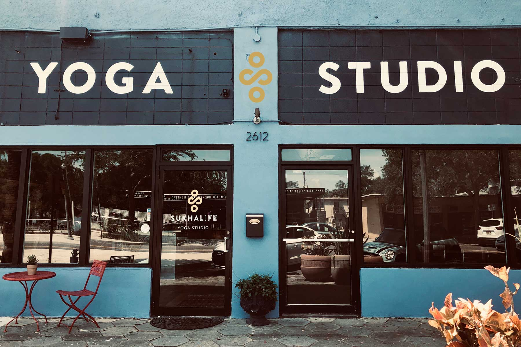 Yoga Studio Storefront on Central Avenue, St. Petersburg, FL